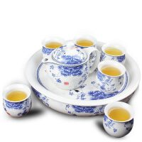 茶杯套装陶瓷茶壶套装茶具景德镇双层功夫茶具大号家用整套