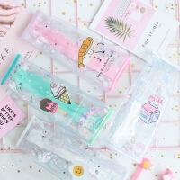 可爱入油流沙牛奶盒创意学生笔袋立体造型网红小仙女铅笔袋文具盒