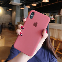 简约液态硅胶手机壳6s网红纯色7plus超火的iphone8P苹果X保护套