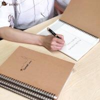 牛皮纸线圈本定制加厚B5螺旋康奈尔记事本东京大学笔记本子文具黄金三分笔记法本
