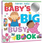 英文原版 Baby's Big Busy Book 宝宝忙碌的一天 大开纸板翻翻书 幼儿认知识物触摸书 英语启蒙绘本