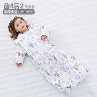 儿童睡袋婴儿春秋纱布薄款四季通用防踢被神器秋冬款加厚宝宝