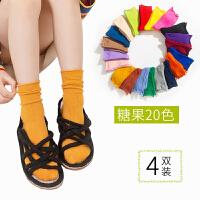 儿童堆堆袜夏季薄款女童洋气韩版糖果色潮童秋季中筒袜子