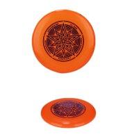 飞盘夜光比赛竞赛软飞碟极限飞盘儿童运动玩具 炫星-橙色 比赛适用