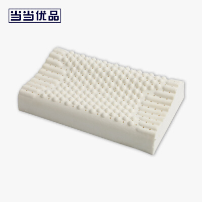 当当优品 进口天然乳胶枕芯 按摩波浪枕头60*40*10/12cm当当自营 NATURE REST制造商