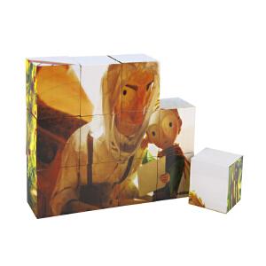 Hape小王子12粒六面拼图3岁以上儿童启蒙益智玩具积木拼插拼图拼板748172