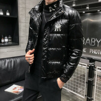 羽绒服男士短款轻薄款冬季2019新款韩版潮流帅气冬装亮面潮牌外套