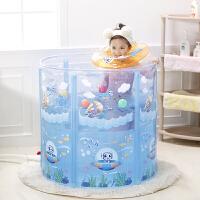 婴儿游泳池家用 婴儿游泳池家用折叠儿童宝宝洗泡澡桶大升降新生保温免充气
