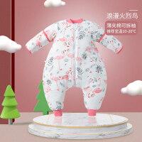 婴儿纱布睡袋宝宝春秋薄款夏季分腿幼儿童防踢被神器四季通用