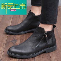 新品上市冬季马丁靴男士短靴真皮复古靴英伦高帮男鞋时尚牛皮靴子潮