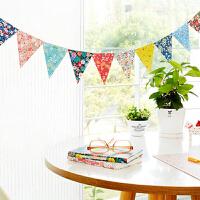 孩派 派对纸彩旗 韩版碎花纸彩旗 生日节庆聚会 纸质装饰品