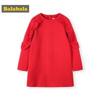 巴拉巴拉儿童连衣裙女童裙子春季2019新款童装中大童公主裙时髦女