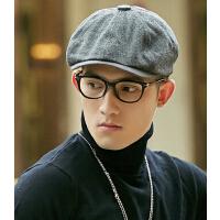 时尚贝雷帽 报童帽  帽子男  韩版潮毛呢英伦复古鸭舌帽
