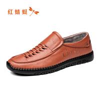 红蜻蜓男鞋休闲皮鞋秋冬休闲鞋子男WTL8067
