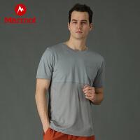 Marmot/土拨鼠春夏户外透气吸湿排汗男圆领短袖T恤