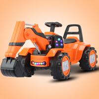 遥控汽车玩具 儿童挖掘机玩具车遥控推挖土机可坐可骑全电动大号男孩勾机工程车 官方标配