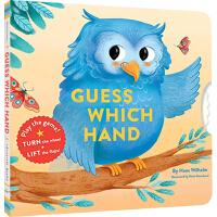 英文原版绘本 Guess Which Hand 纸板翻翻书 操作书 猜猜趣味互动游戏书 儿童英语启蒙绘本 Chroni