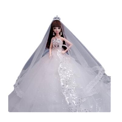 巴芘洋娃娃 90厘米裙摆套装大礼盒女儿童白雪公主