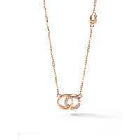 项链女纯银锁骨链镶嵌简约生日礼物送女友