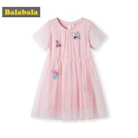 巴拉巴拉女童连衣裙中大童夏装新款儿童童装裙子洋气网纱裙女