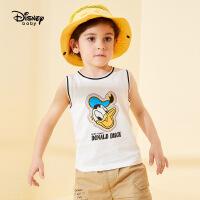 【99元3件】迪士尼童装儿童男童纯棉针织背心中小童上衣2020夏季新款薄款潮酷