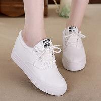 冬季新款软皮小白鞋高帮加绒帆布鞋女韩版潮棉鞋休闲板鞋女学生