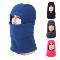 户外新款抓绒帽保暖蒙面帽面罩围脖男女休闲防风头套