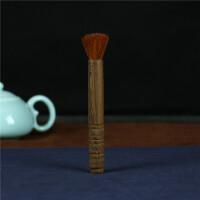 原木养壶笔 功夫茶具 茶盘刷子 不掉毛茶刷扫茶笔壶刷大号笔