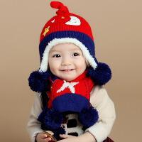 婴儿帽子春秋冬季新生儿毛线帽幼儿保暖帽6-12-24个月男女宝宝帽