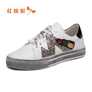 红蜻蜓女鞋秋冬休闲鞋鞋子女单鞋WCB8501