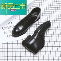 新品上市春季透气高帮皮鞋男士商务韩版尖头短靴英伦侧拉链潮皮靴马丁靴男