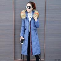 长过膝棉衣女冬装加厚韩版中长款羽绒厚外套2018冬季女士棉袄