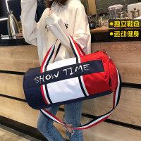 短途旅行包女手提单肩斜跨行李包旅游包鞋位行李袋小运动包健身包
