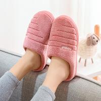 冬季棉拖鞋男女情侣款冬季居家保暖厚底防滑室内毛拖鞋