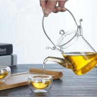 耐高温不锈钢过滤玻璃提梁壶 泡茶壶 花茶壶水壶 玻璃茶壶水杯杯子