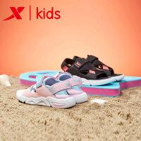 【特步限时直降】特步女童凉鞋沙滩鞋2019夏季新品舒适清凉休闲鞋童鞋魔术贴防滑681214509239