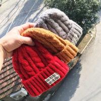 儿童帽子冬季宝宝加厚保暖帽1-3-5岁男童女童针织帽护耳童帽
