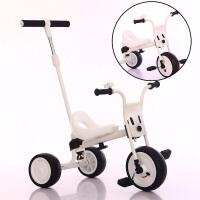 儿童三轮车婴幼儿脚踏车1-3岁男女孩大号小孩自行车手推童车YW150 白色