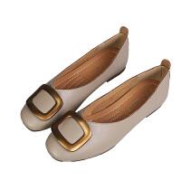 2019新款平底单鞋小码33-34奶奶鞋大码女鞋41-43春季豆豆鞋瓢鞋女