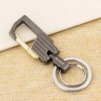 男士腰挂钥匙扣 创意汽车钥匙链挂件金属钥匙圈环 双圈 耐用