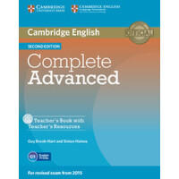 【预订】Complete Advanced Teacher's Book with Teacher's Resourc