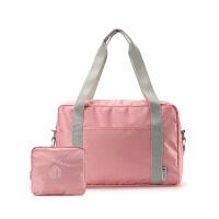 男女折�B旅行包旅游防水行李袋大容量加厚手提收�{包可登�C�炖��U 大
