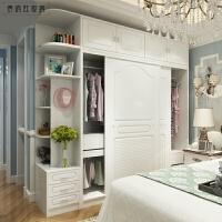 推拉门衣柜卧室家具板式衣柜 衣柜衣帽间 移门实木衣柜 2门