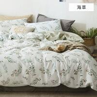 床上纯棉四件套清新碎花被子学生宿舍床单1.8m被罩三件套床笠