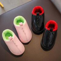 儿童棉拖鞋防水包跟可爱卡通男女宝宝小孩冬季保暖外穿1-3岁2