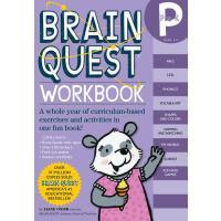 现货 英文原版 Brain Quest Pre-K 益智挑战 学龄前 练习带粘纸
