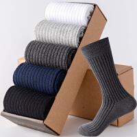 黑色高腰袜子男士冬季加厚韩版外穿潮秋款正装商务中高筒长袜