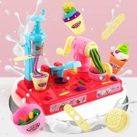 儿童橡皮泥玩具套装粘土彩泥模具组合冰淇淋机小孩手工泥女孩益智