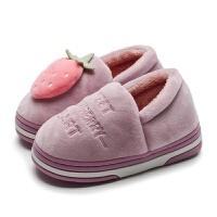 2018冬季儿童棉鞋女童棉鞋 水果宝宝雪地靴男童鞋 保暖居家居棉