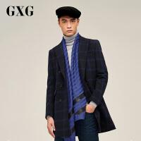 【21-22一件到手价:335.7】GXG男装新款 冬装时尚潮流休闲长款大衣64226337